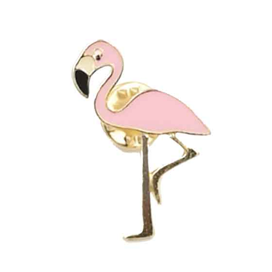 Flamingo Brosche Anstecker Pin