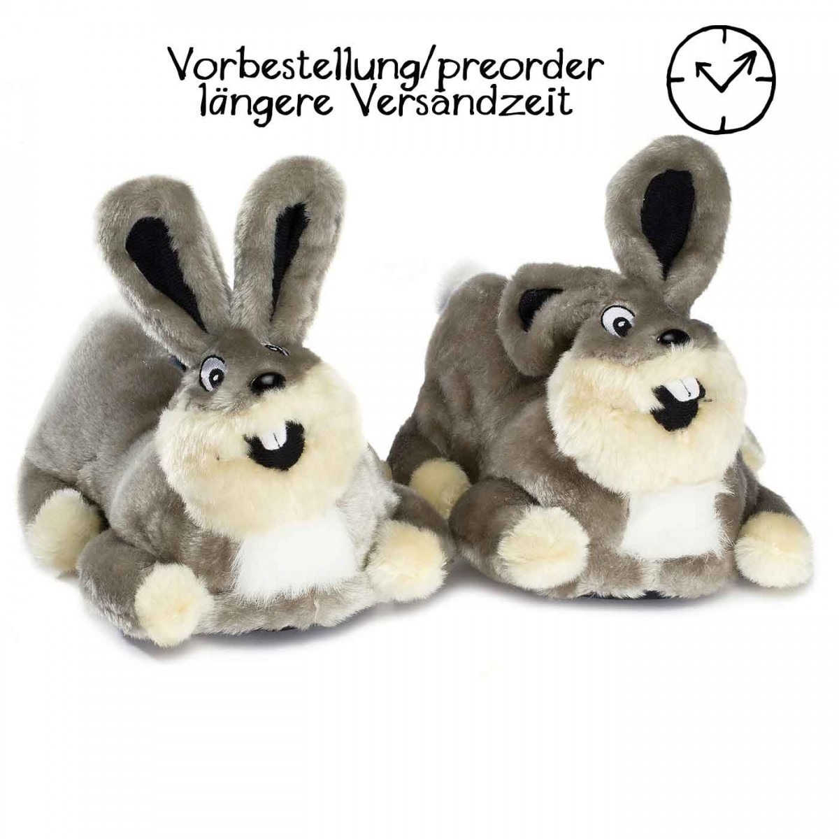 Lustige Hausschuhe Hase Crazy Bunny